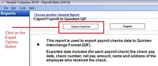 Quicken Payroll Software: How to export Payroll Checks to Quicken