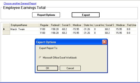 Export Report to Excel