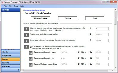 Generate form 941 and modify adjustments inside form 941 software