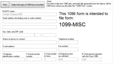 Print 1096 Form