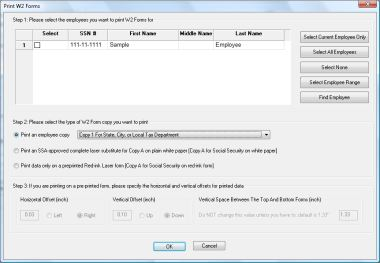 2013 W2 Software: Printing W2 forms