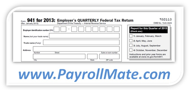 2013 Form 941 Published