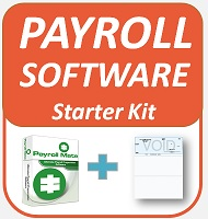 Payroll Starter Kit (Payroll Mate Payroll Software + 250 Compatible Computer Checks)
