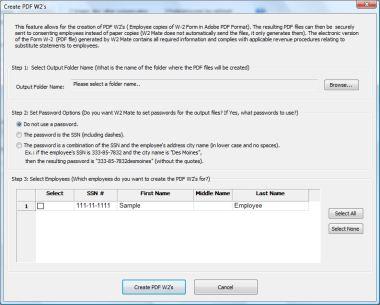 W2 software free: Electronic W2 Statements
