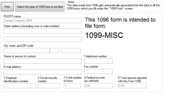 1099 form michigan  10 Software: 10 Printing Software, 10 Efile Software ...